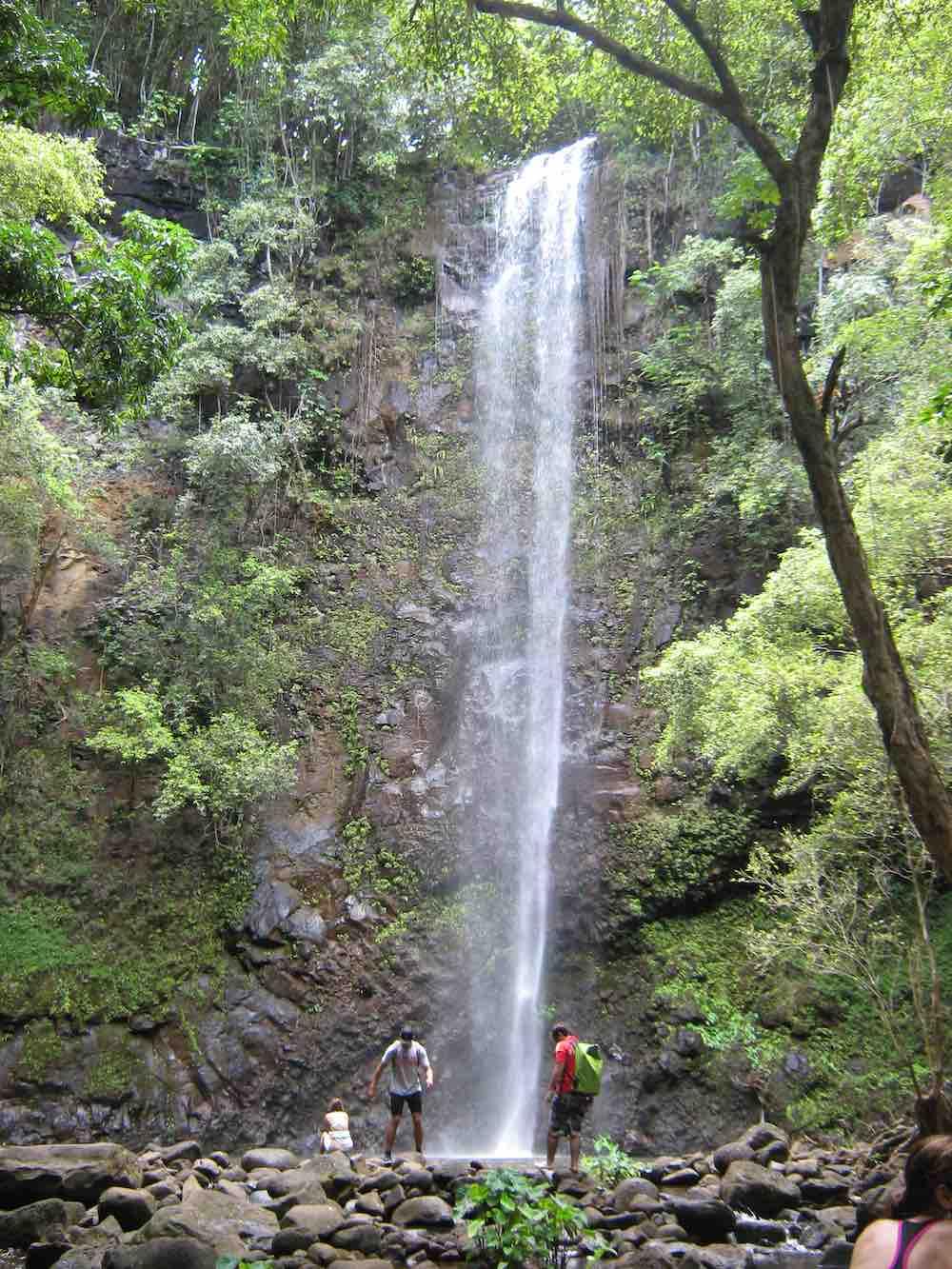 7 Prettiest Best Hawaii Waterfalls to visit featured by top Hawaii blog, Hawaii Travel with Kids: Uluwehi Falls is one of the prettiest Kauai waterfalls
