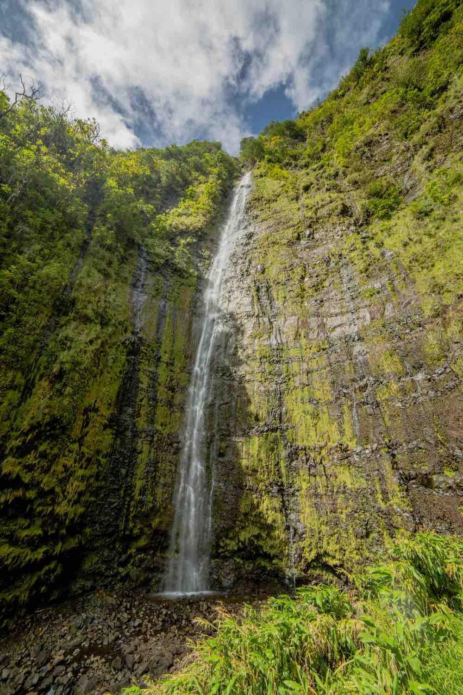 7 Prettiest Best Hawaii Waterfalls to visit featured by top Hawaii blog, Hawaii Travel with Kids: Waimoku Falls is one of the prettiest Maui waterfalls