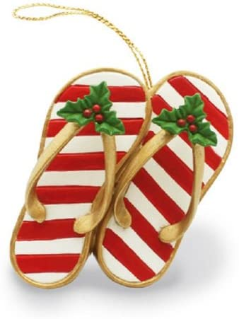 20 Hawaiian Christmas Ornaments featured by top Hawaii blogger, Hawaii Travel with Kids: hawaiian slipper ornament