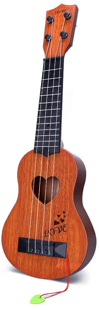 Find out the best toddler ukulele to buy in this ukulele guide by top Hawaii blog Hawaii Travel with Kids. Image of a YEZI ukulele