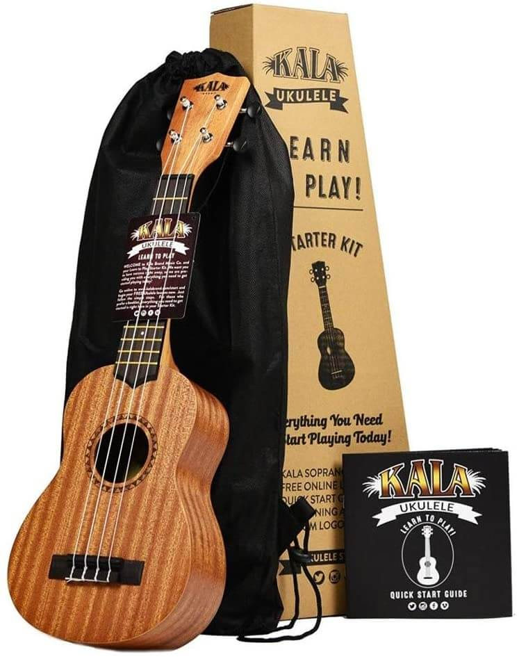 Find out the best kids ukulele to buy in this ukulele guide by top Hawaii blog Hawaii Travel with Kids. Image of Kala Ukulele Starter Kit