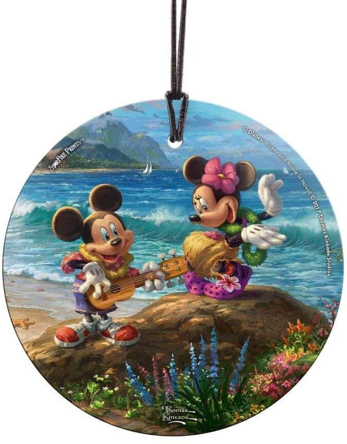 20 Hawaiian Christmas Ornaments featured by top Hawaii blogger, Hawaii Travel with Kids: Mickey and Minnie Hawaiian Ornament