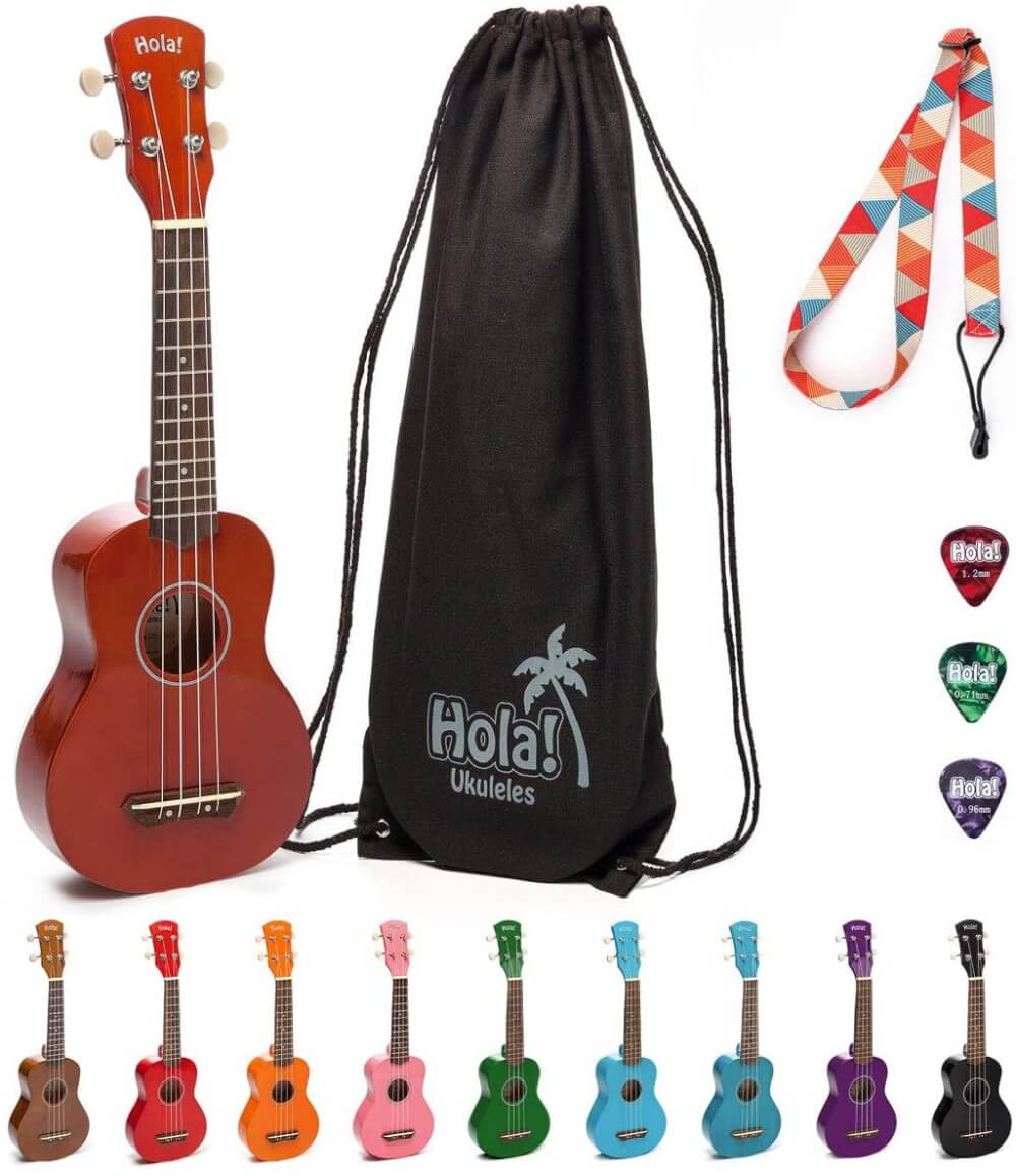 Find out the best toddler ukulele to buy in this ukulele guide by top Hawaii blog Hawaii Travel with Kids. Image of Hola ukulele