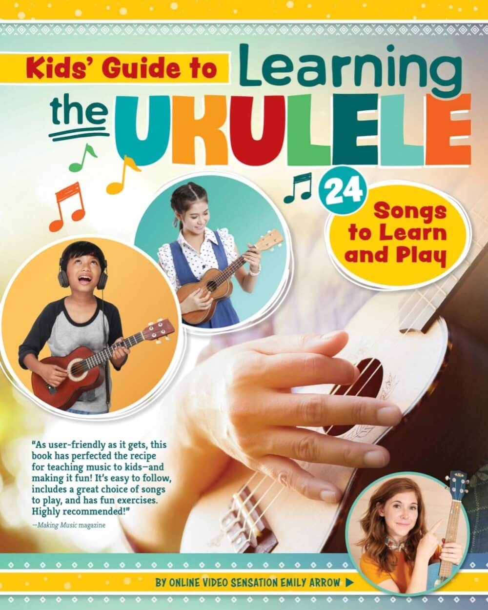 Find out the best kids ukulele book to buy in this ukulele guide by top Hawaii blog Hawaii Travel with Kids. Image of a Kids Guide to Learning the Ukulele