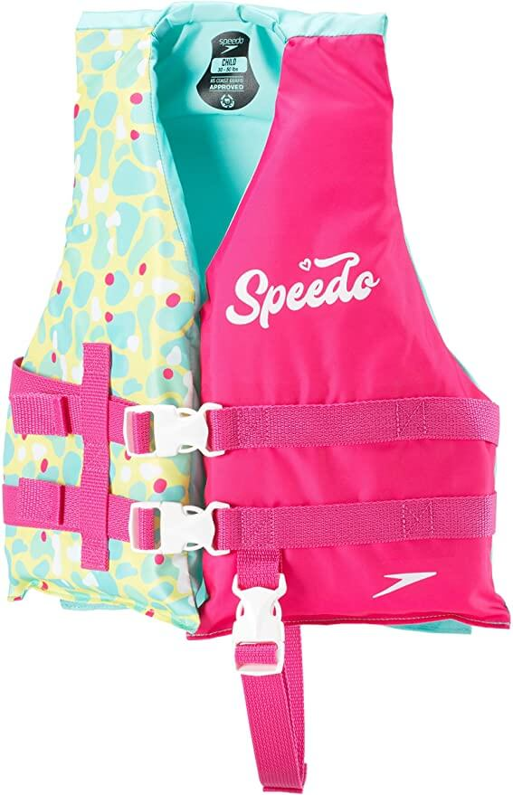 The Best Life Jackets For Toddlers & Preschoolers featured by top Hawaii blog, Hawaii Travel with Kids: Speedo child life jacket