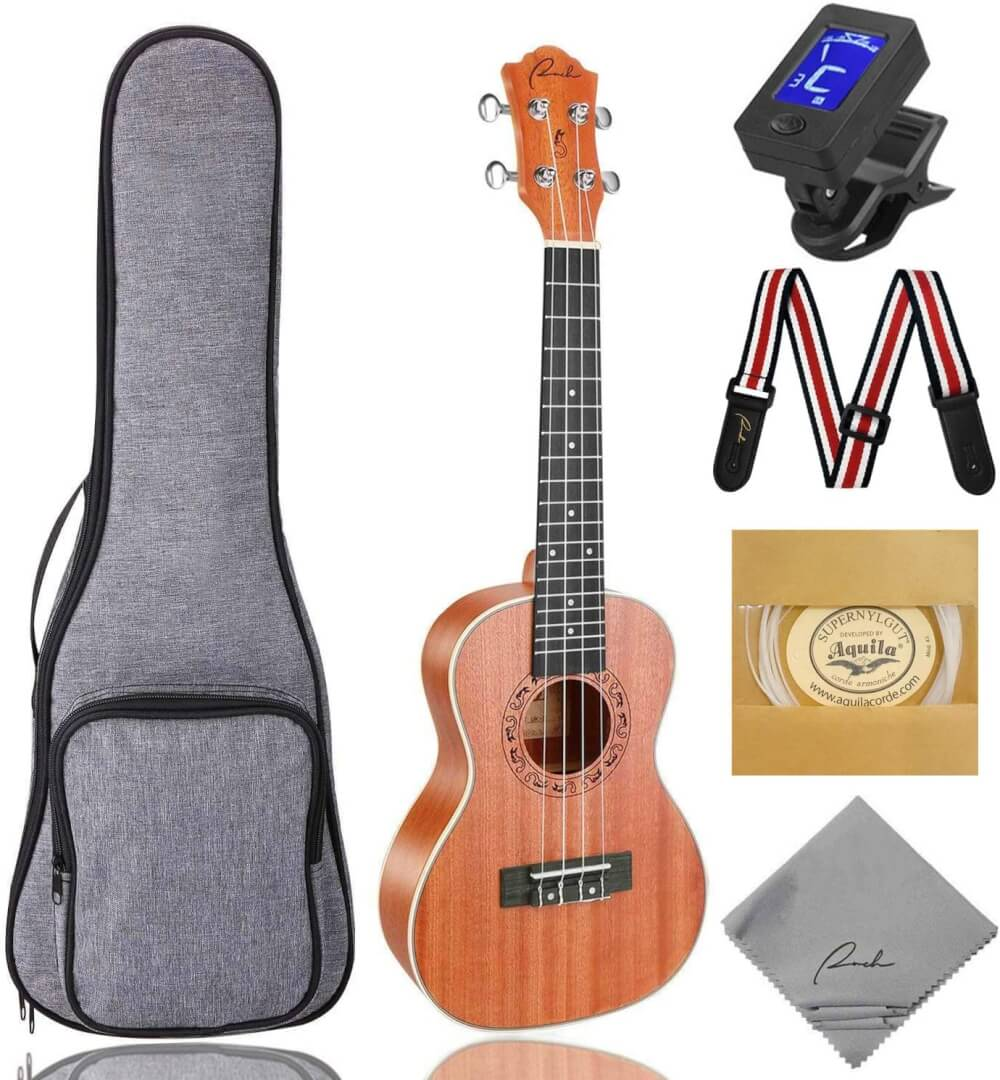 Find out the best kids ukulele to buy in this ukulele guide by top Hawaii blog Hawaii Travel with Kids. Image of Ranch Ukulele