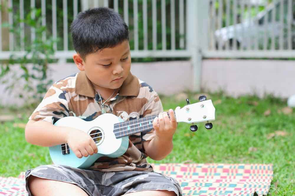 Kids of all ages love playing the ukulele
