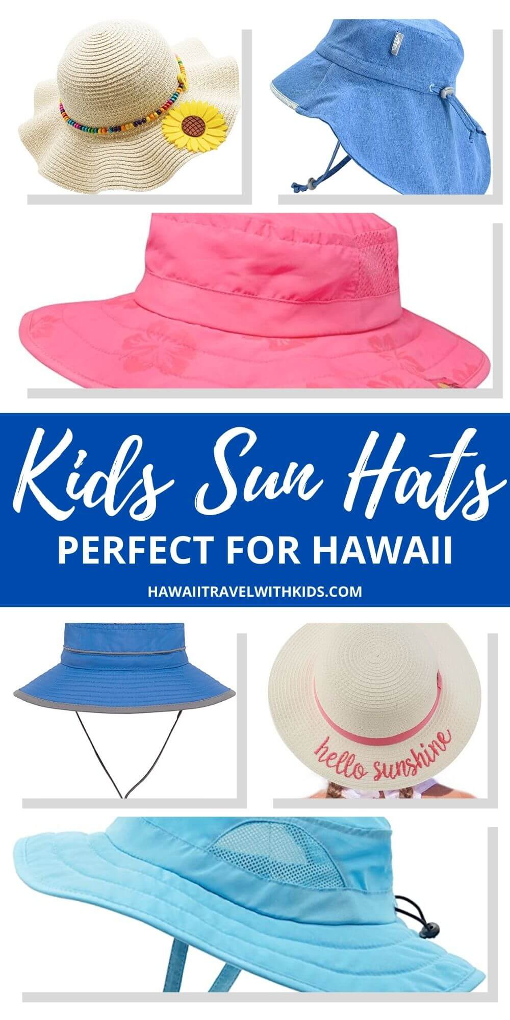 Top 10 Best Kids Sun Hats for Hawaii featured by top Hawaii blogger, Hawaii Travel with Kids