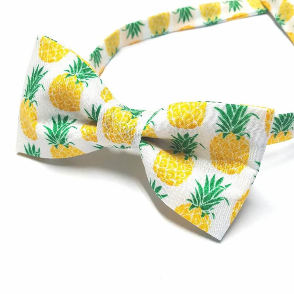 Cute Pineapple Gifts from Etsy featured by top Hawaii blog, Hawaii Travel with Kids: Pineapple Bow tie Tropical Bow Tie Novelty Bow tie Summer image 1