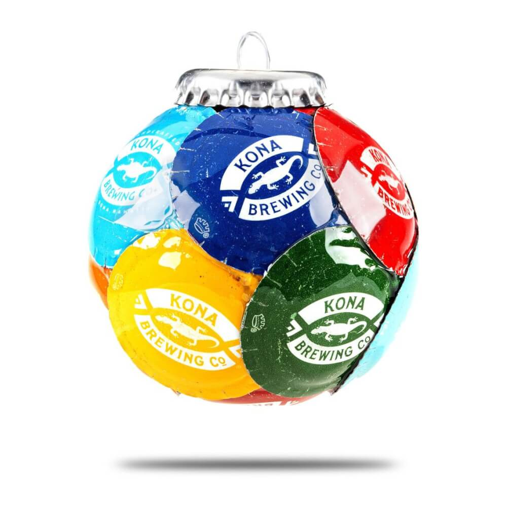 20 Hawaiian Christmas Ornaments featured by top Hawaii blogger, Hawaii Travel with Kids: Kona Bottle Cap Ornament image 0