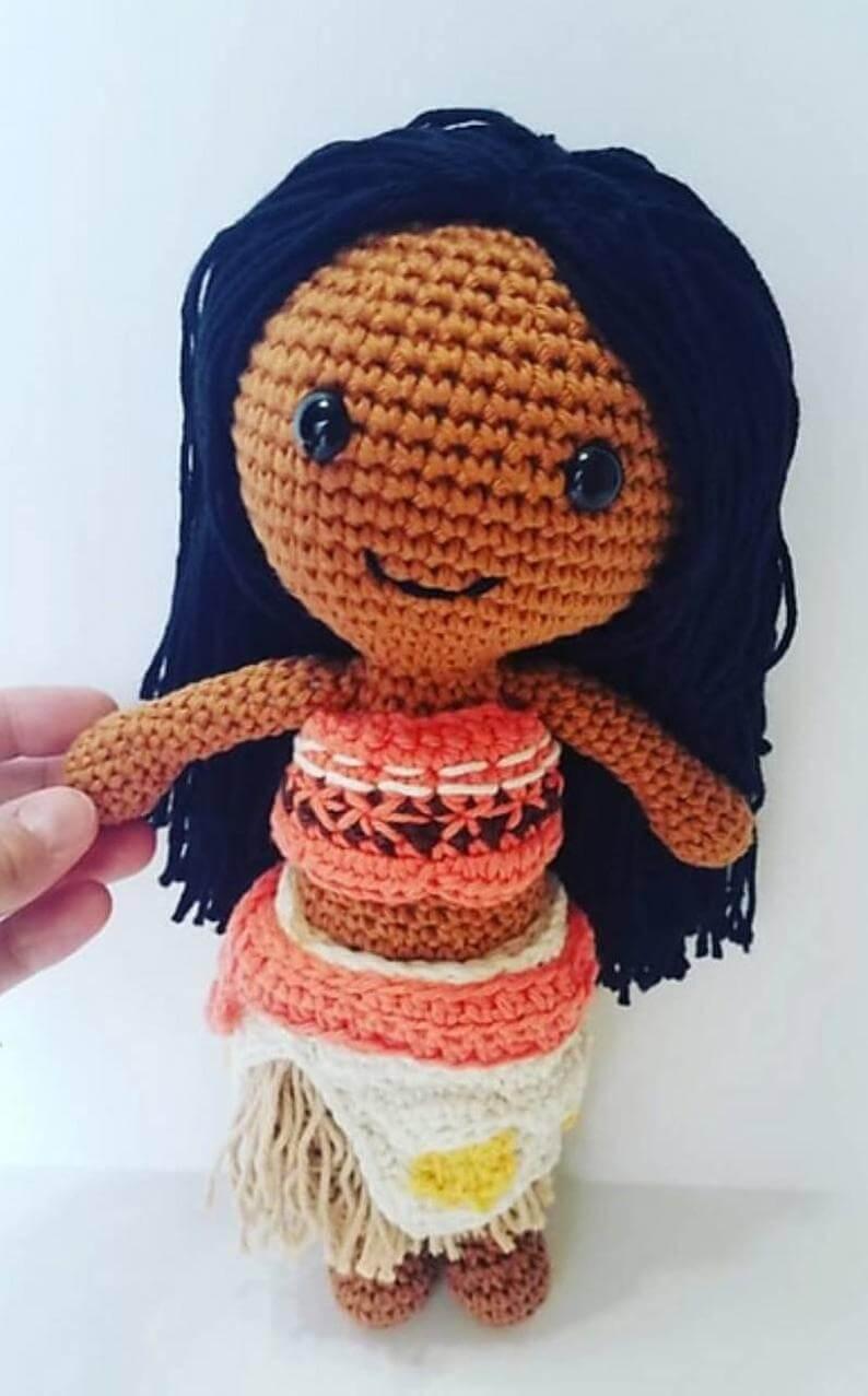 Hawaiian toys and Hawaiian gifts for kids by top Hawaii blogger Hawaii Travel with Kids: Crochet Moana doll moana moana doll crochet Moana island image 0