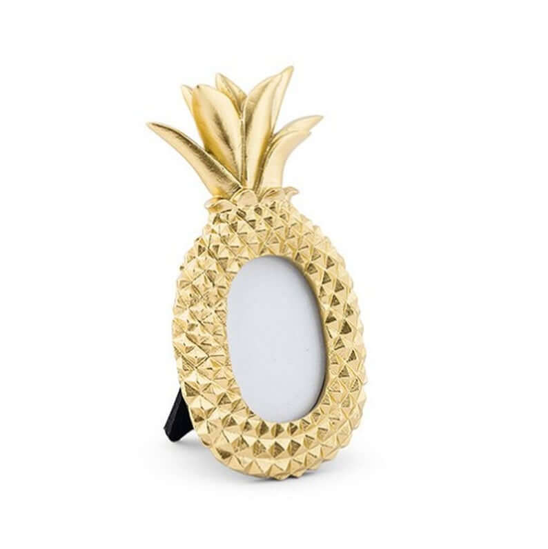 Cute Pineapple Gifts from Etsy featured by top Hawaii blog, Hawaii Travel with Kids: Gold Pineapple Frame Photo Frame Place Card Holder Small image 0
