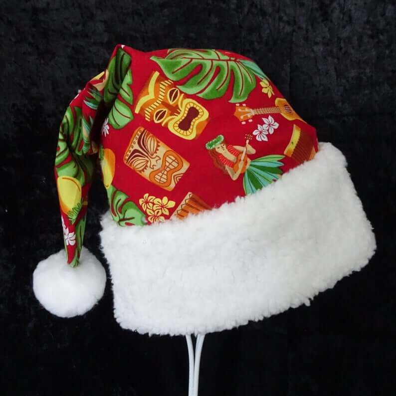 Best Hawaiian Christmas Decorations featured by top Hawaii blogger, Hawaii Travel with Kids: Add some Hawaiian Christmas decorations to your home this holiday season with these top Hawaii Christmas decorations ideas from top Hawaii blog Hawaii Travel with Kids. Image of Tropical Santa Hat