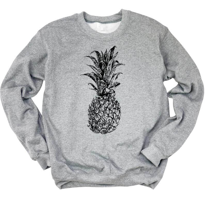Cute Pineapple Gifts from Etsy featured by top Hawaii blog, Hawaii Travel with Kids: Pineapple sweatshirt pineapple shirt stand tall like a image 0