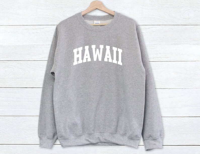 Hawaii Surfing Gifts featured by top Hawaii blog, Hawaii Travel with Kids: Hawaii Sweatshirt Hawaii Sweater Hawaii University image 5