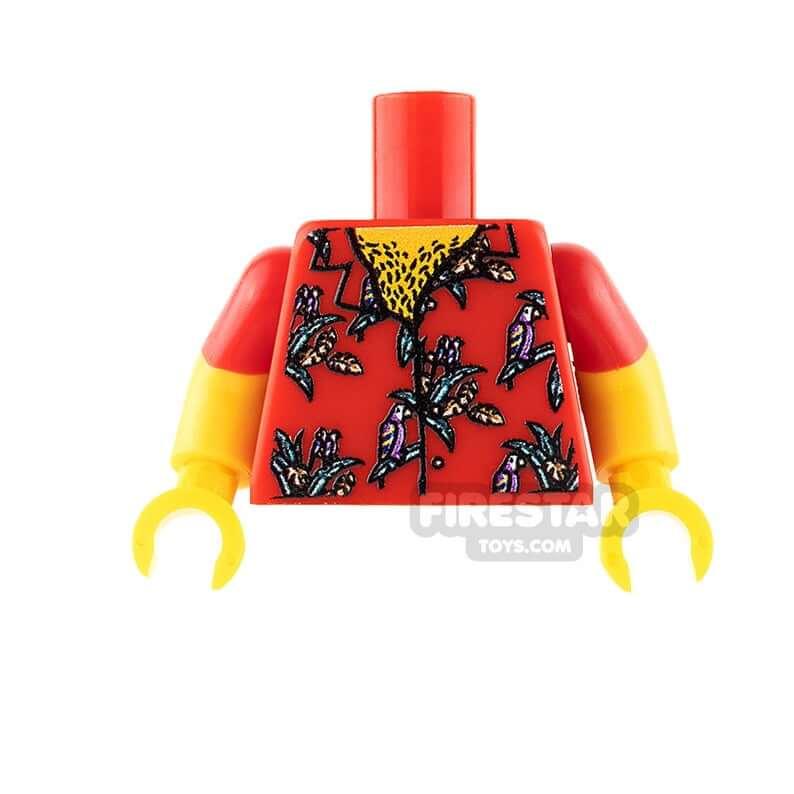 Hawaiian toys and Hawaiian gifts for kids by top Hawaii blogger Hawaii Travel with Kids: Custom Design Torso Red Hawaiian Shirt image 0