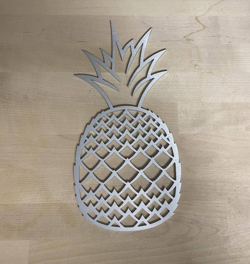 Cute Pineapple Gifts from Etsy featured by top Hawaii blog, Hawaii Travel with Kids: Metal Pineapple Wall Art Decor image 4