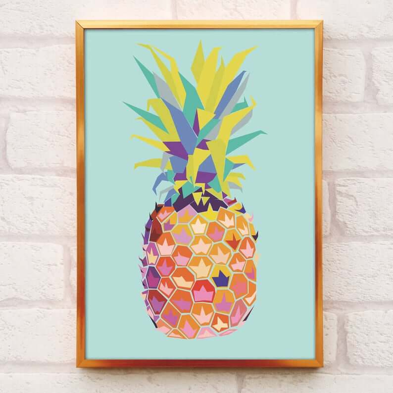 Cute Pineapple Gifts from Etsy featured by top Hawaii blog, Hawaii Travel with Kids: Pineapple Print image 0