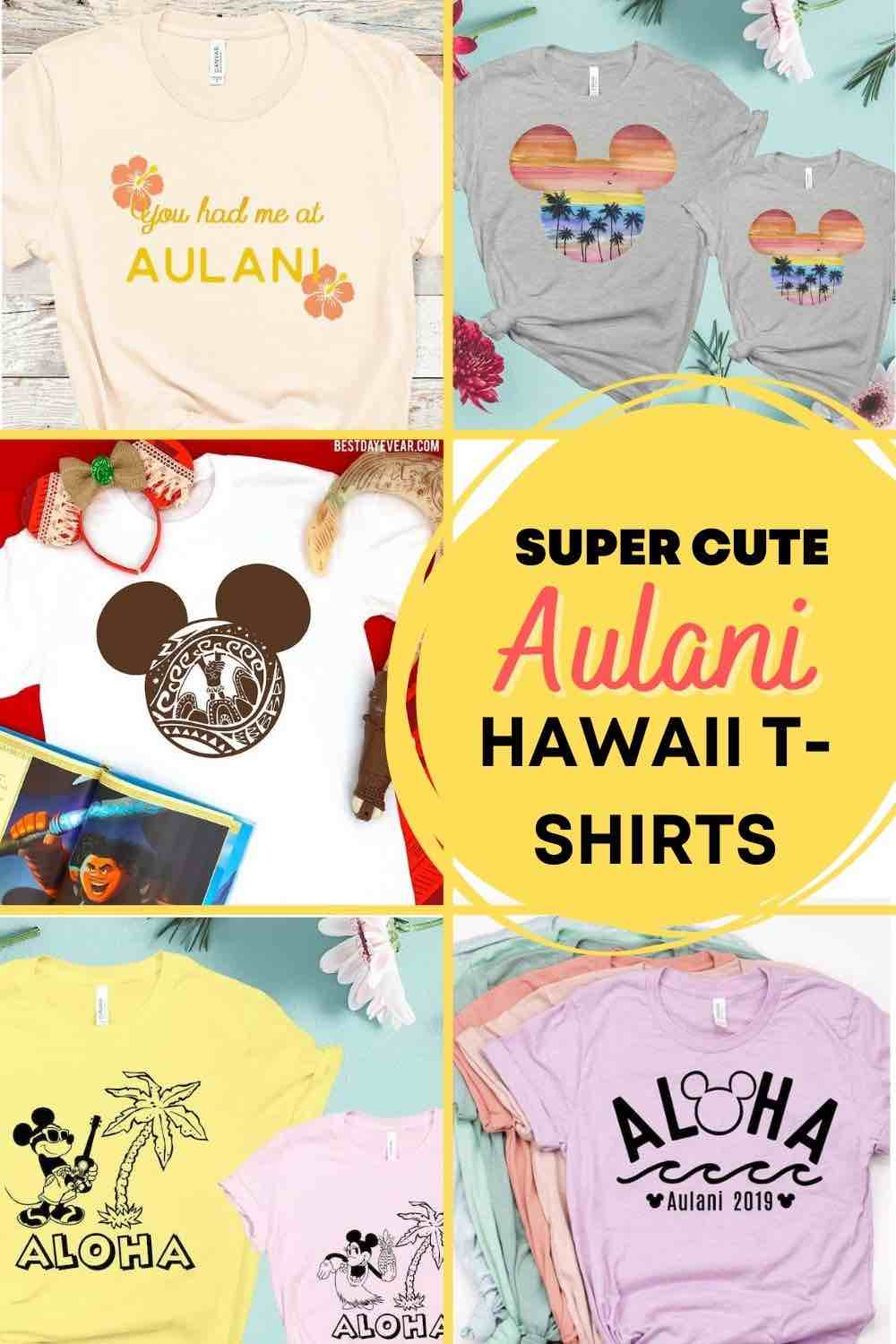 Find out the cutest Disney Aulani t-shirts to buy before your trip to Disney's Aulani Resort in Hawaii by top Hawaii blog Hawaii Travel with Kids
