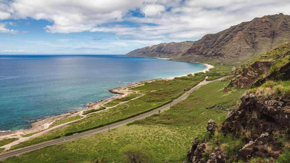Kaena Point Hike guide featured by top Hawaii blogger, Hawaii Travel with Kids: Image of the coast of Kaena Point Hawaii.