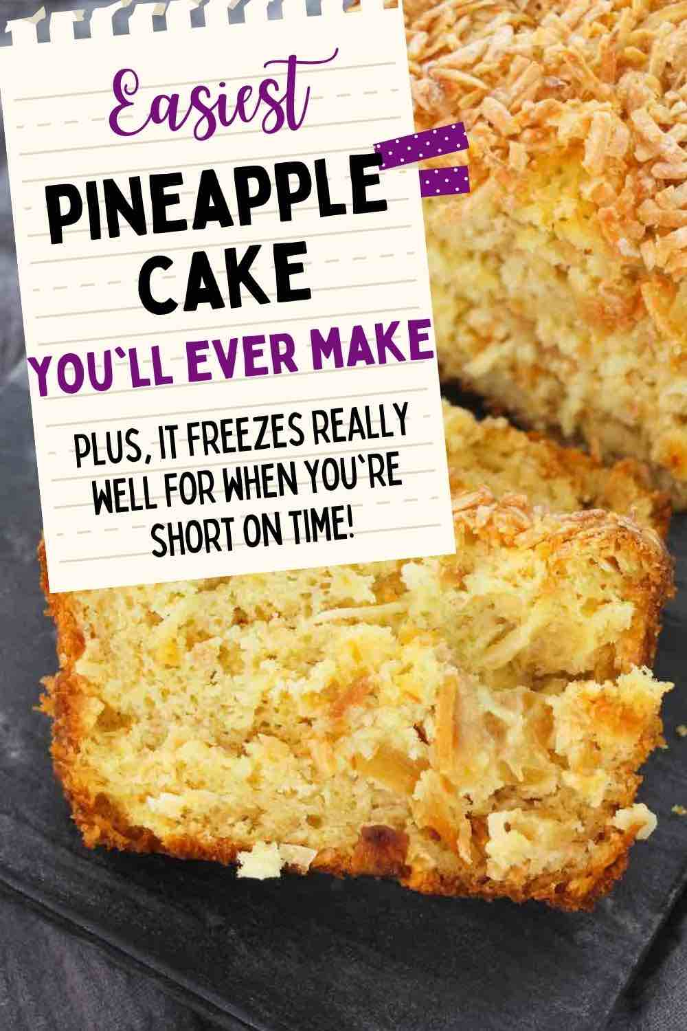 Hawaiian Desserts: Easy Pineapple Coconut Cake Recipe featured by top Hawaii blogger, Hawaii Travel With Kids.