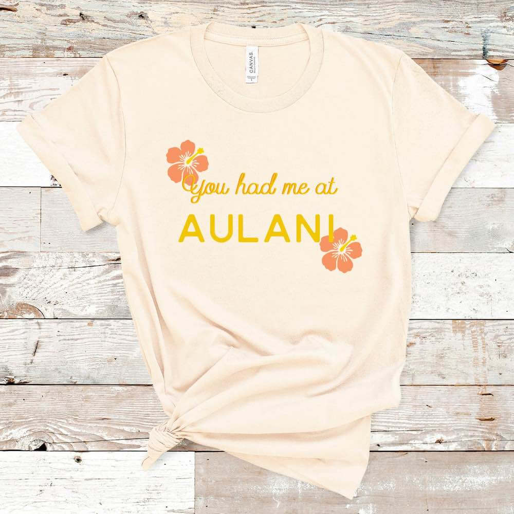 Find out the cutest Disney Aulani t-shirts to buy before your trip to Disney's Aulani Resort in Hawaii by top Hawaii blog Hawaii Travel with Kids. How adorable is this You Had Me at Aulani Shirt for your next trip to Hawaii?