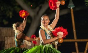 Find out the best Big Island luau experiences to check out. Image of hula dancers at the Royal Kona Resort luau