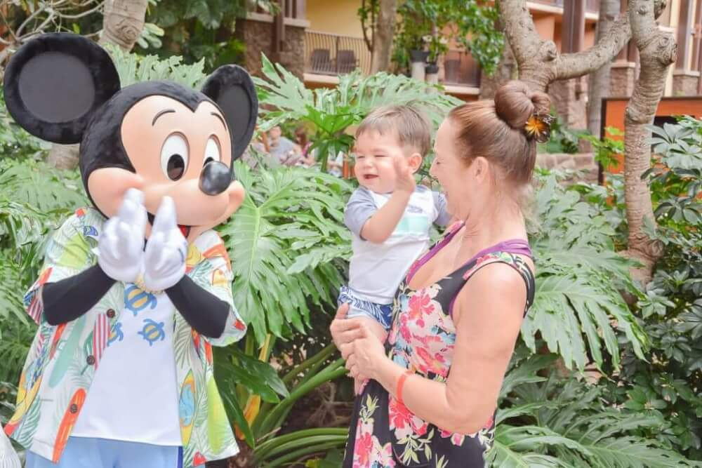 Aulani tips and Disney Aulani Resort review featured by top Hawaii blog, Hawaii Travel with Kids: Photo of Mickey Mouse at Disney Aulani Resort & Spa in Hawaii #aulani #disneydestination #hawaii