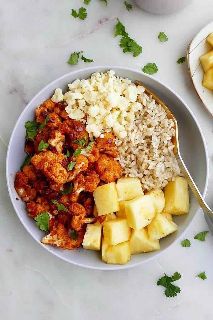 Cauliflower al Pastor pineapple Bowl recipe