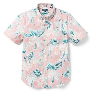 Top 13 Best Hawaiian Souvenirs to Bring Home featured by top US Hawaii blog, Hawaii Travel with Kids: Reyn Spooner ORCHID BLOOM TAILORED FIT HOT CORAL