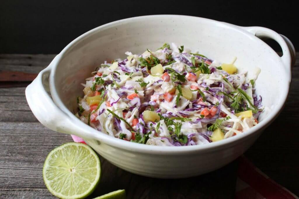 Check out these pineapple coleslaw recipes