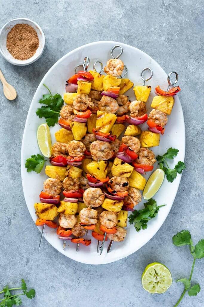 Jerk Pineapple Shrimp Skewers
