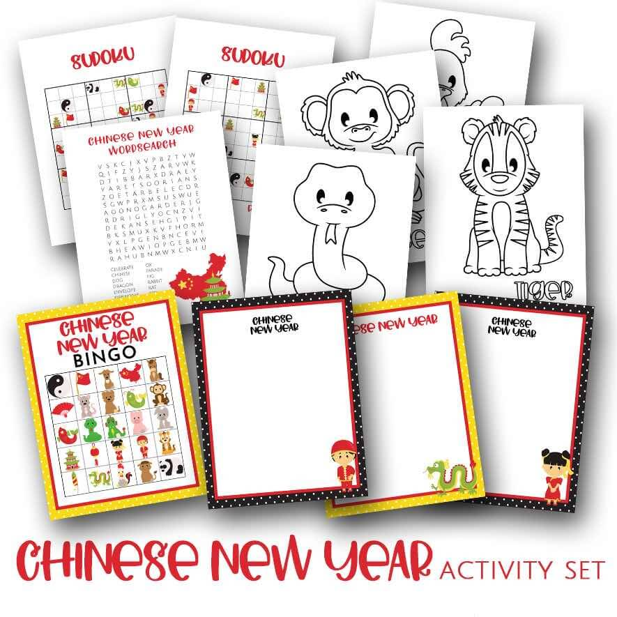 Incredible Chinese New Year Printables for kids by top Hawaii blog Hawaii Travel with Kids.