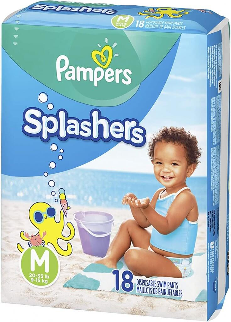 Traveling to Maui with toddlers or a baby? Be sure to pack swim diapers. Image of Pampers Little Splashers.