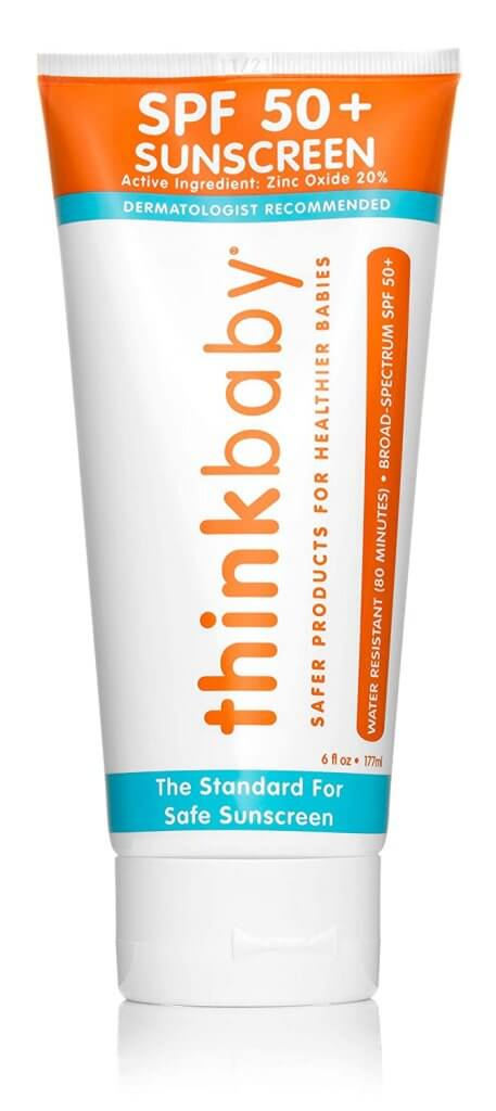 Image of Thinkbaby natural sunscreen for babies.