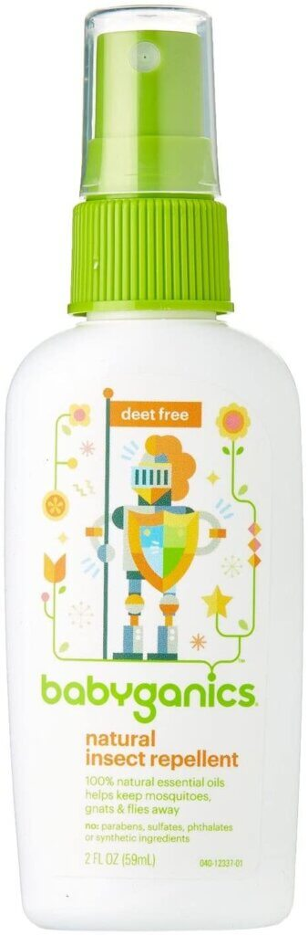 Hiking in Maui? Don't forget bug spray on your Maui packing list. Image of Babyganics natural insect repellent.