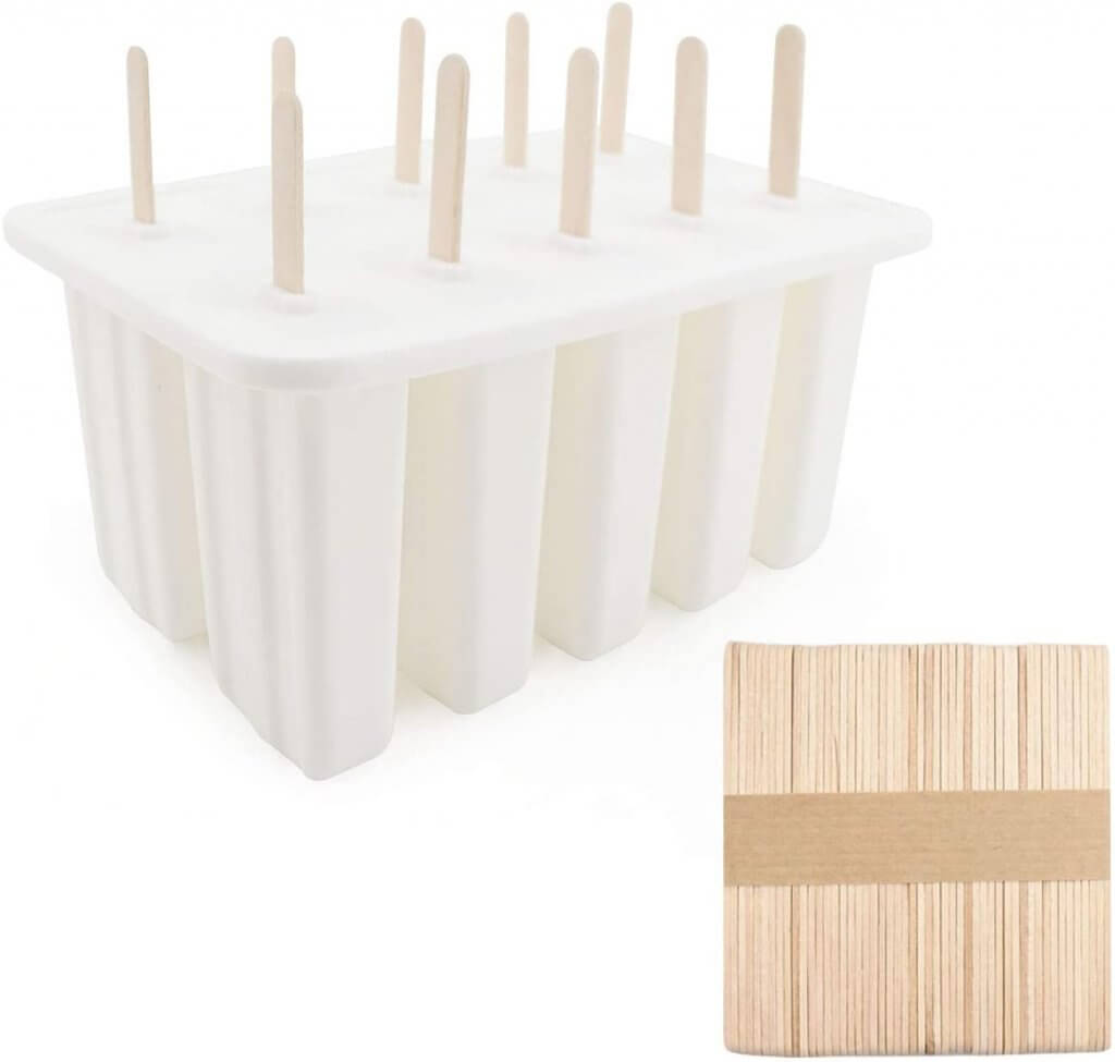 Image of a popsicle mold for families who want to make their own popsicles at home.