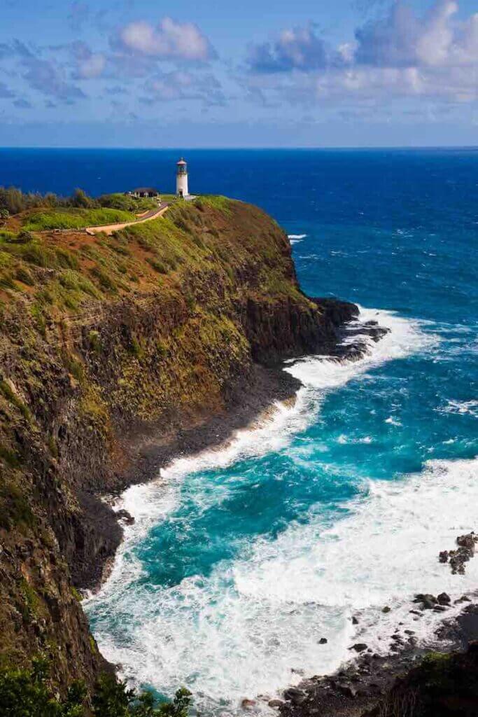 One of the best things to do on Kauai on a budget is explore Kilauea Point Image of the Kilauea Wildlife Refuge on Kauai.