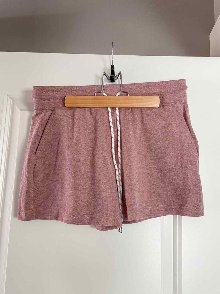 When I asked for cute Hawaii outfit ideas from Wantable, they sent this awesome pair of pink shorts. Image of rose pink athletic shorts.