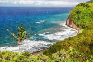 Find out the best cheap and Free Things to do on Big Island recommended by top Hawaii blog Hawaii Travel with Kids. Image of the coastline on the Big Island of Hawaii.