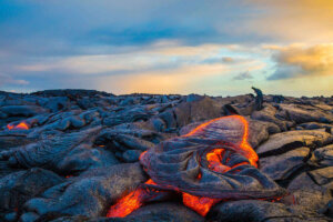 Find out the best Hawaii Big Island volcano tours recommended by top Hawaii blog Hawaii Travel with Kids. Image of lava at Hawaii Volcanoes National Park.