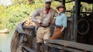 Find out the top Kauai filming locations from Disney's The Jungle Cruise recommended by top Hawaii blog Hawaii Travel with Kids. Image of Dwayne Johnson and Emily Blunt posing on the Jungle Cruise.