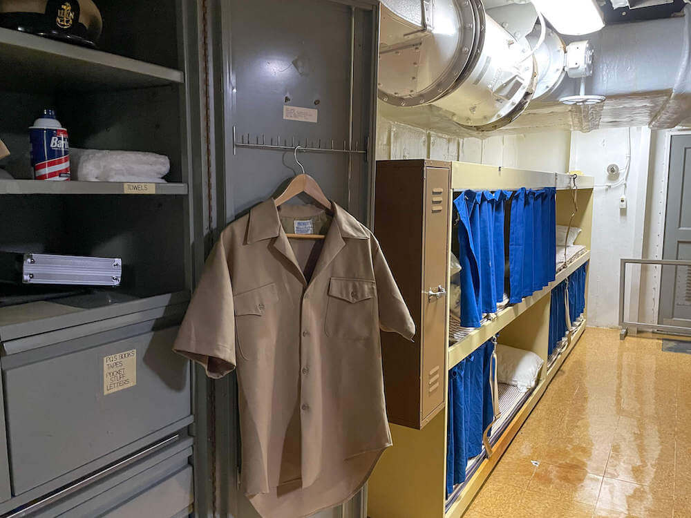 See where Chief Petty Officers lived on board the USS Battleship Missouri.