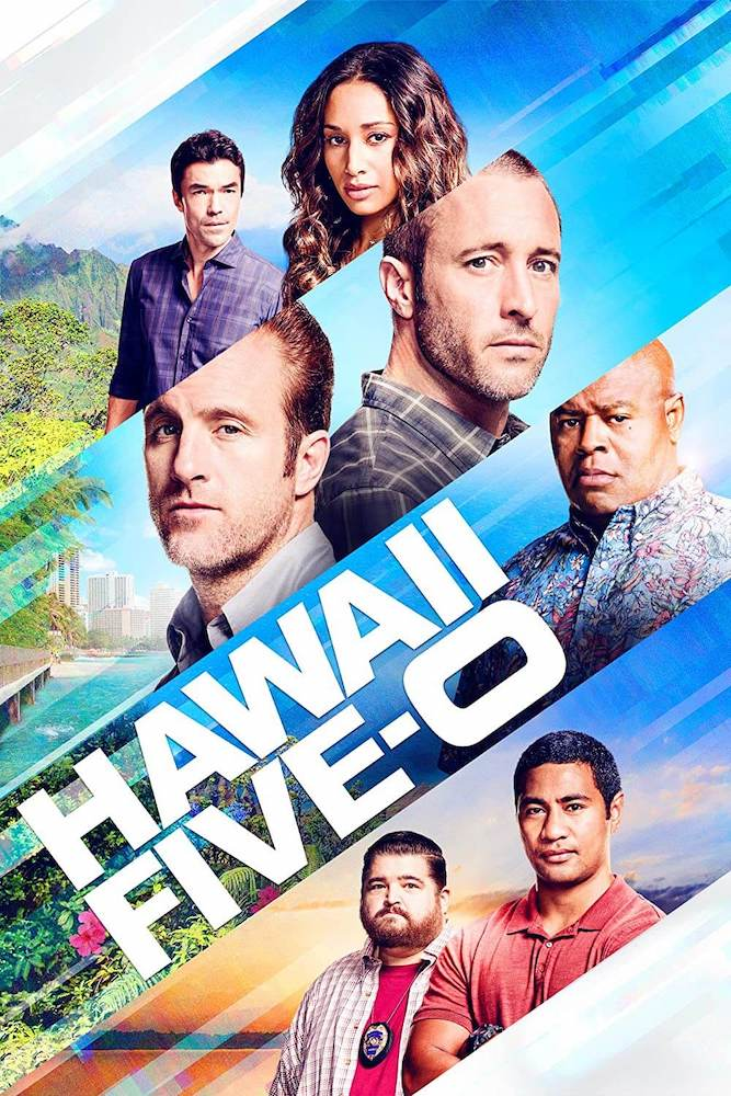 Promo image for Hawaii Five-O featuring cast members in Hawaii