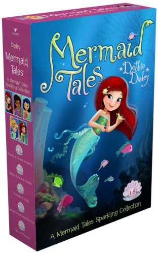 Mermaid Tales is a boxes set of books about mermaids for kids in grades 1-4. Image of a box with a mermaid on it.