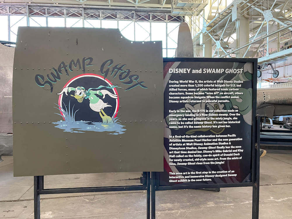 See the new Disney collaboration with the Pearl Harbor Aviation Museum on Swamp Ghost. Image of Donald Duck wearing aviator gear.
