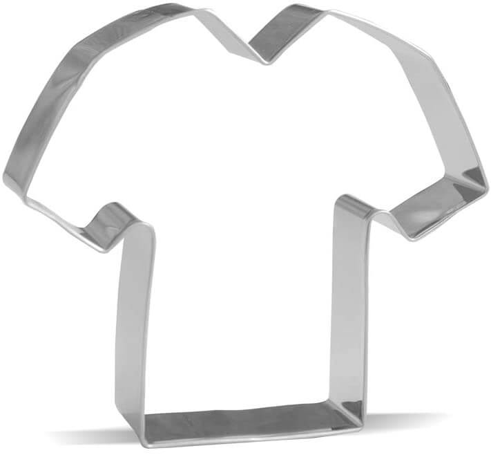 You can turn this t-shirt cookie cutter into an Aloha shirt cookie cutter by drawing on flowers.