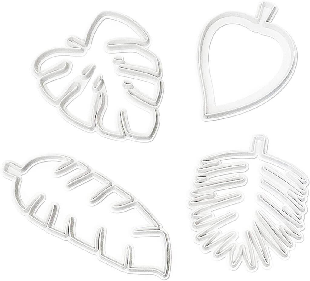 These tropical leaf cookie cutters are awesome for cutting fondant to decorate cakes and cupcakes.
