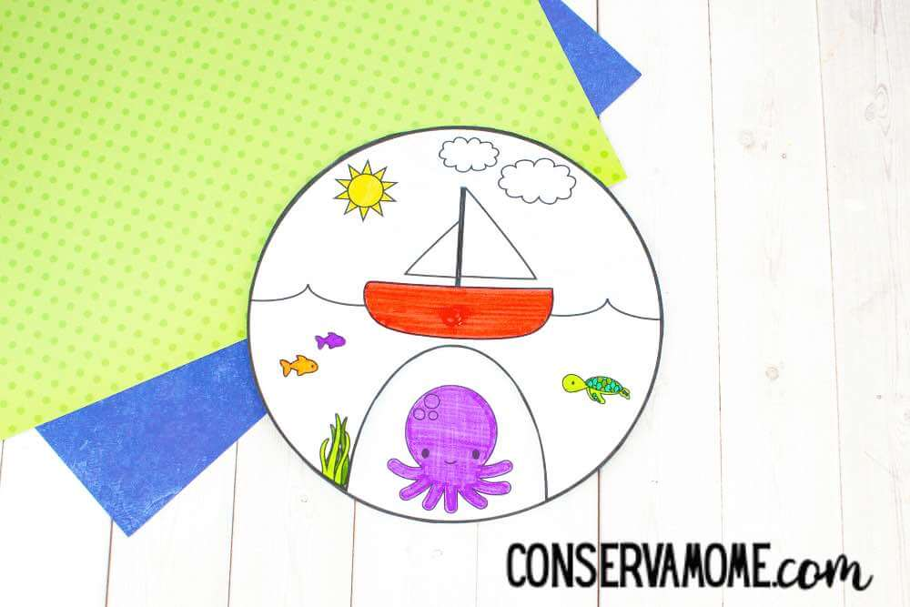 This sea life spinner is great for teaching kids about the ocean.